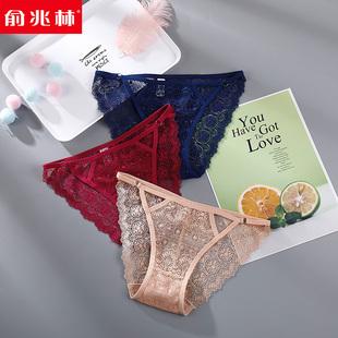 女士内裤纯棉裆夏薄款低腰女式三角性感蕾丝无痕少女生冰丝内裤头