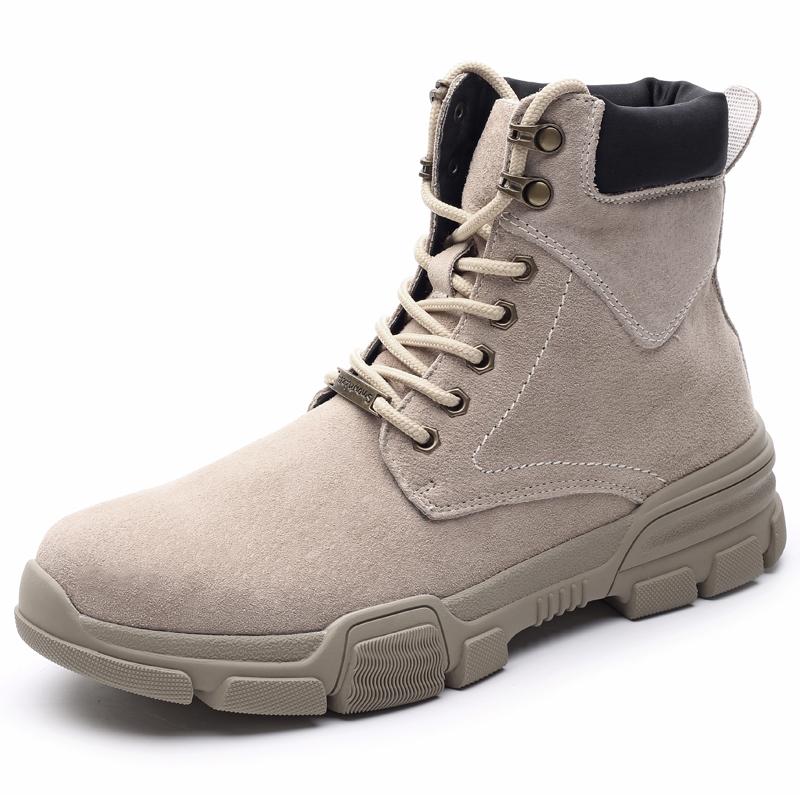真皮男靴高帮鞋英伦复古韩版潮布洛克短靴军靴切尔西皮靴马丁靴男