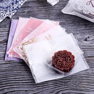 美涤月饼包装袋 绿豆糕蛋黄酥透明塑料包装袋子100枚入 烘焙包装