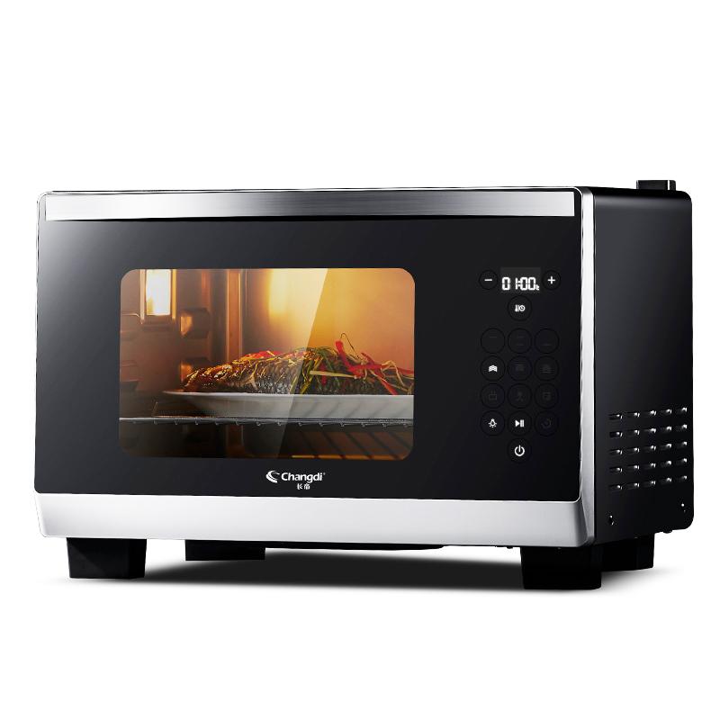 长帝 ZTBDF25L 多功能家用烘焙智能全自动小烤箱蒸烤一体电烤箱炉
