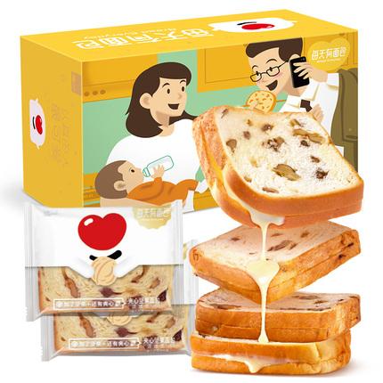 每天有面包坚果面包夹心吐司大列巴营养早餐网红休闲小零食品整箱