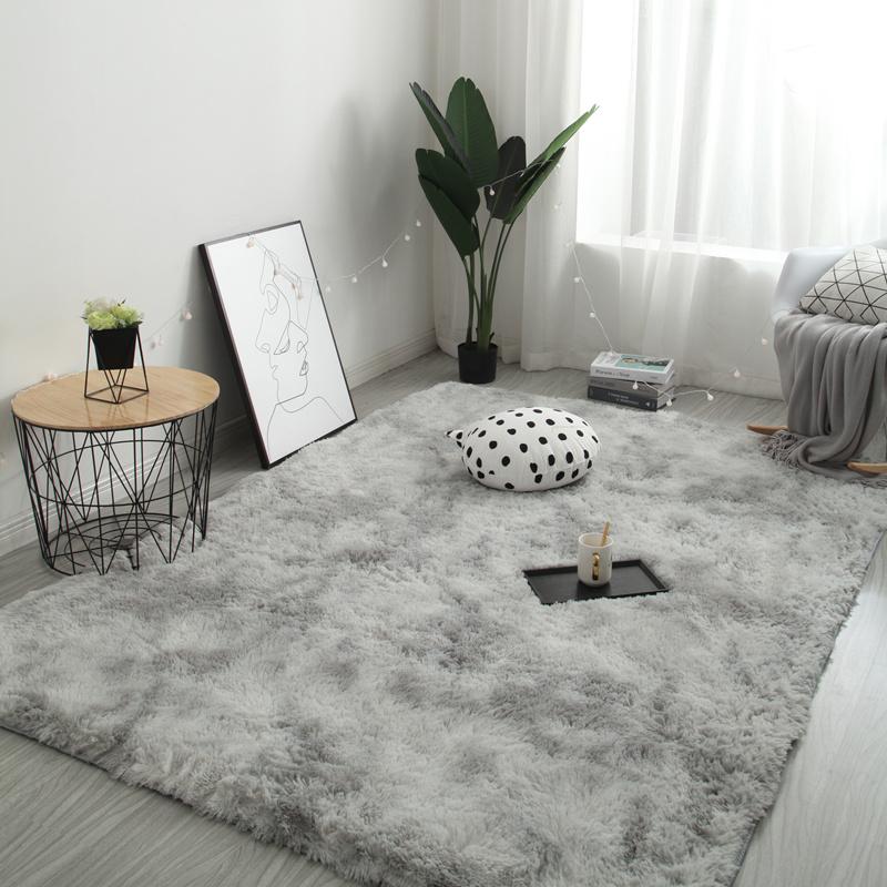 网红同款房间装饰ins风扎染地毯