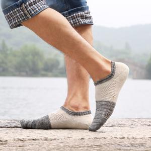 袜子男短袜船袜秋冬低帮浅口透气防臭短筒棉袜四季民族风复古男袜
