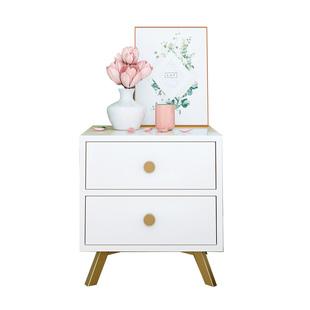 北欧床头柜现代简约床边小型柜子卧室实木收纳边柜简易迷你储物柜