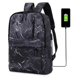 简约男士背包电脑双肩包男时尚潮流青年旅行大学生书包韩版大容量