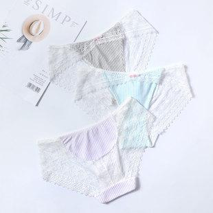 棉小内女士内裤女蕾丝性感纯棉裆夏季薄款透气少女日系无痕三角裤