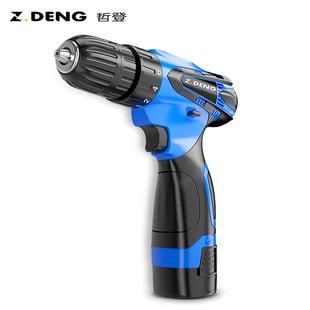 哲登12V充電式手鉆手槍鉆家用手電轉電動螺絲刀小鋰電池鉆手電鉆