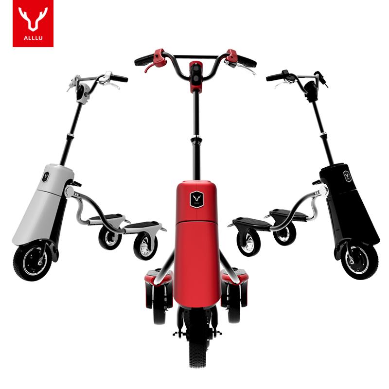 有路电动滑板车锂电池电动车折叠便携成人智能快充电动三轮代步车