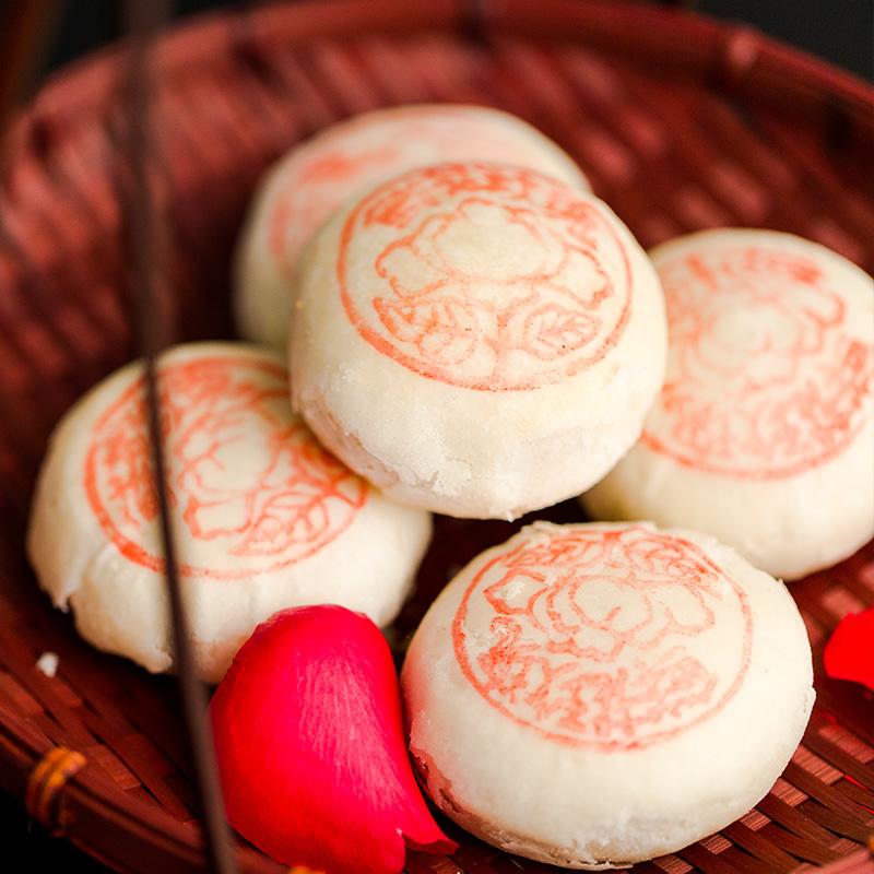 酥皮香甜核桃玫瑰鲜花饼 康熙御赐特产手工糕点 天津白皮酥500g