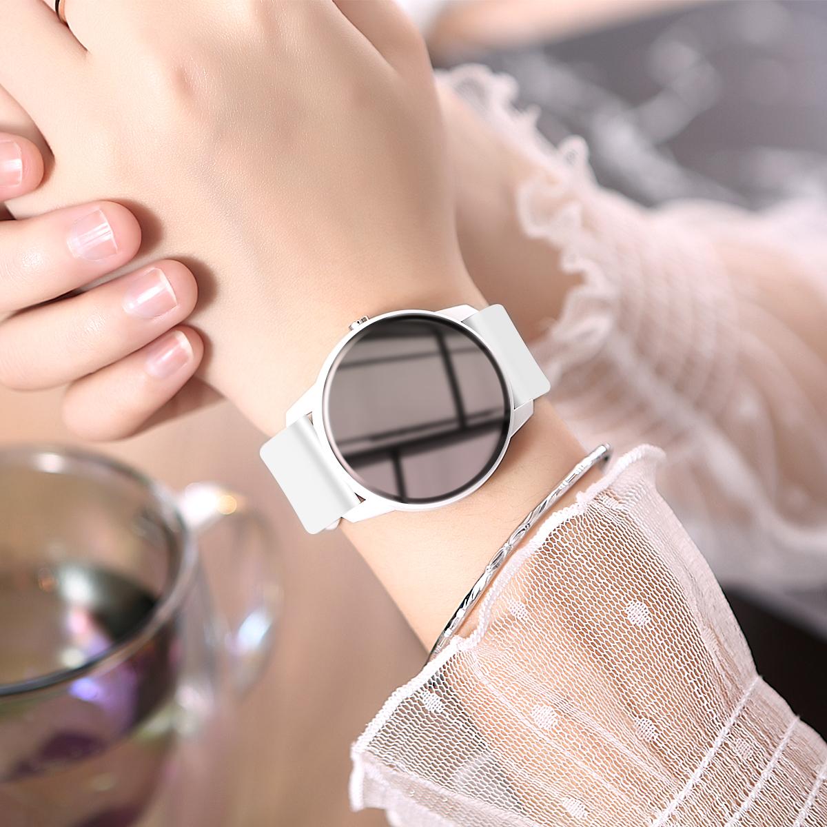 智能手表女多功能運動手環華為小米蘋果通用學生電子表簡約ins風