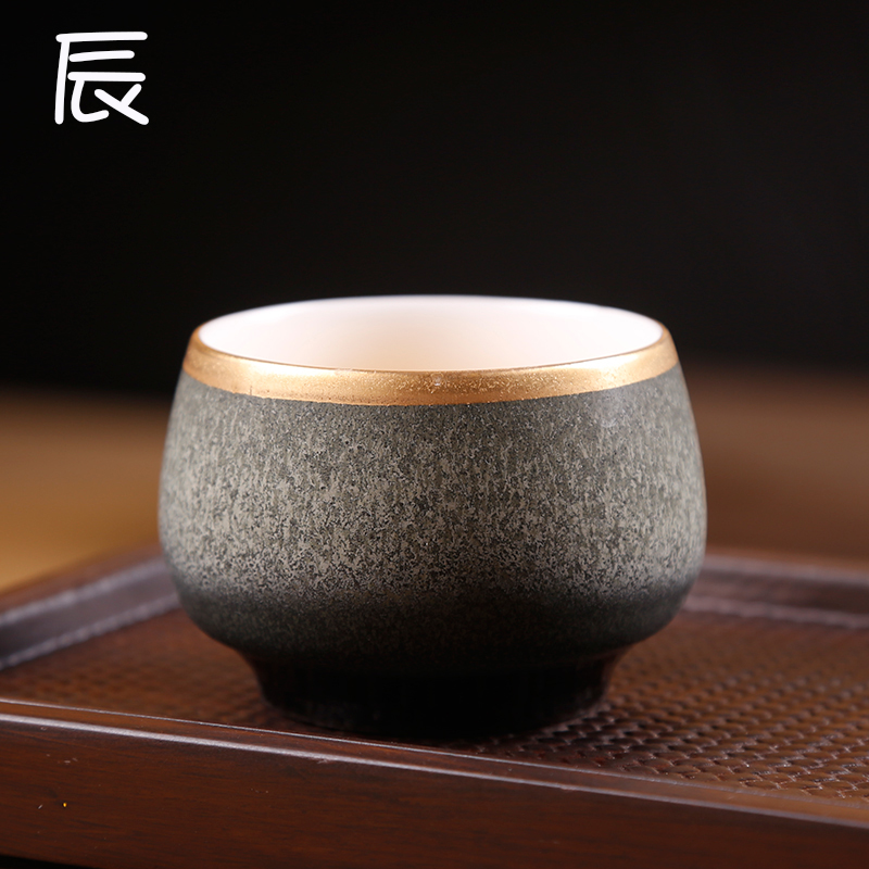 Variable seasons of building ceramic sample tea cup lamp cup master cup stars four color tea red glaze, a single CPU