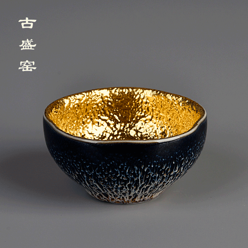 Ancient sheng up new name plum particles jinbei jun porcelain up with 24 k gold jinzhan bowl masters cup sample tea cup