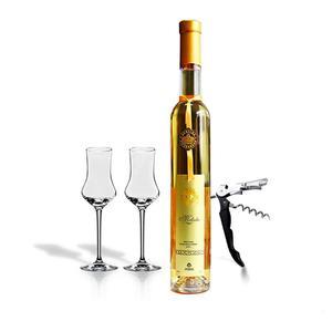 美绚冰谷白葡萄酒甜型双杯小支原瓶进口甜网红酒赠女士香槟冰酒杯
