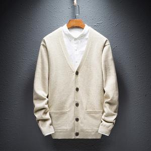 秋冬季立领羊毛衫男装纯色毛衣针织衫男士外套毛线衣薄款开衫