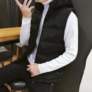 棉马甲男冬季韩版潮流修身帅气春秋运动加厚休闲马夹坎肩无袖外套