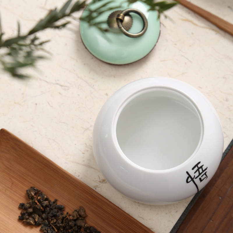 Hui shi violet arenaceous caddy fixings small ceramic tank storage POTS installed tea caddy fixings tea tea box seal pot