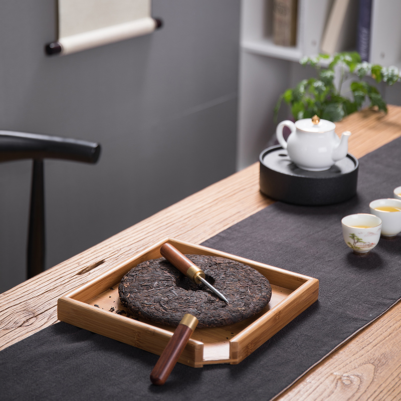 Treasure minister 's puer tea ebony hua limu tea, black tea stainless steel knife knife cone ChaZhen tea tea accessories