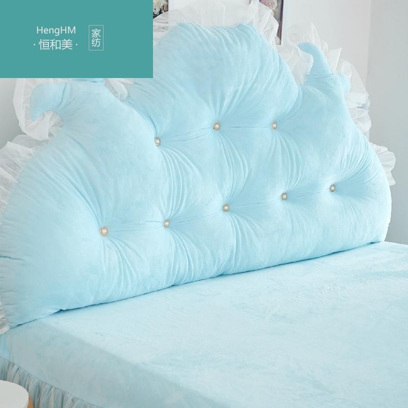 恒和美韩式田园公主天鹅绒大靠背全棉靠背纯棉床上双人长靠枕 含