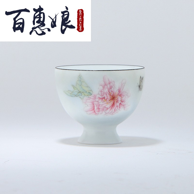 (niang kung fu tea set jingdezhen ceramic mat glaze single cup 199 koubei famille rose red incense jade