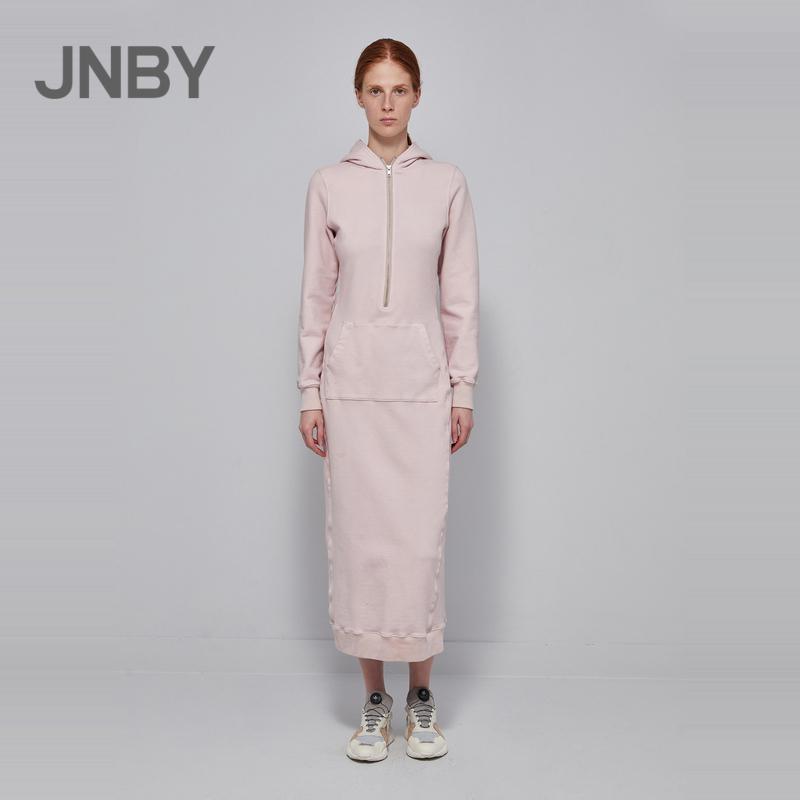 JNBY-江南布衣2018春新款运动带帽连衣裙女5I1500560