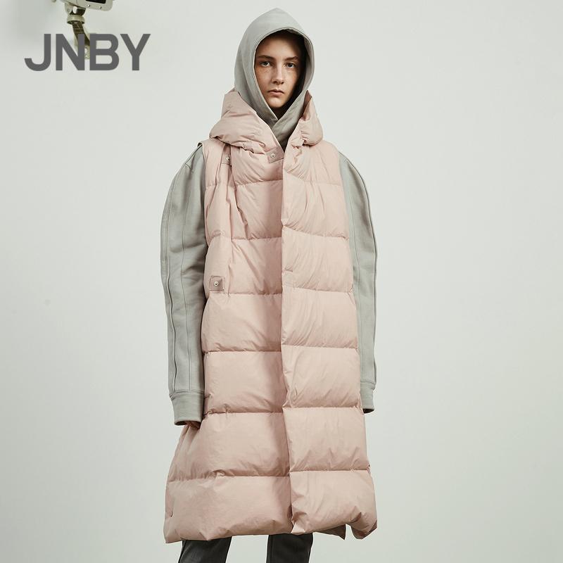 商场同款JNBY-江南布衣2018秋新品保暖连帽羽绒马甲女5I8724130