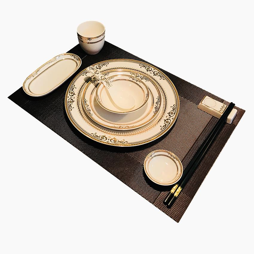Club dishes ltd. table key-2 luxury box ceramic tableware suit high - end restaurant dishes hotel logo.