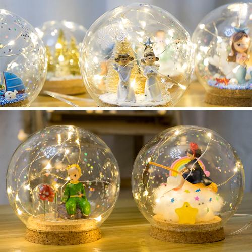 Christmas Gift Crystal Ball Light Small Prince115063