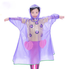 儿童雨衣带书包位男童女童幼儿园宝宝防水雨披小学生小孩安全环保