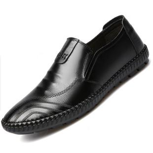 百念皮鞋男真皮秋季男鞋驾车鞋男士防滑豆豆鞋软底牛皮休闲鞋子男