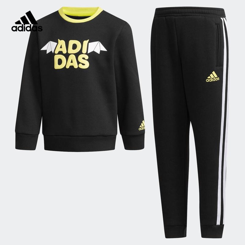 阿迪达斯官网 adidas 小童装训练针织套装DX1764 DX1765