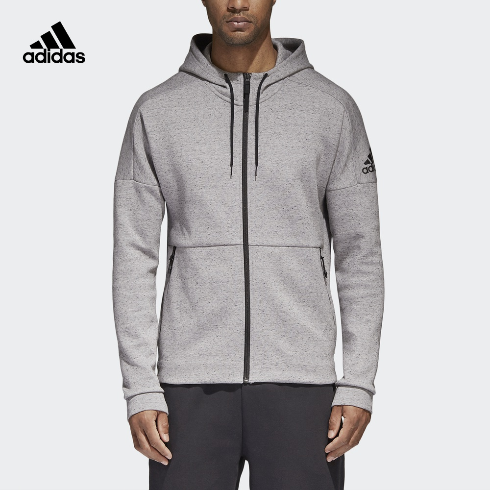 阿迪达斯官方 adidas 男子运动型格针织夹克 S98783 S98781