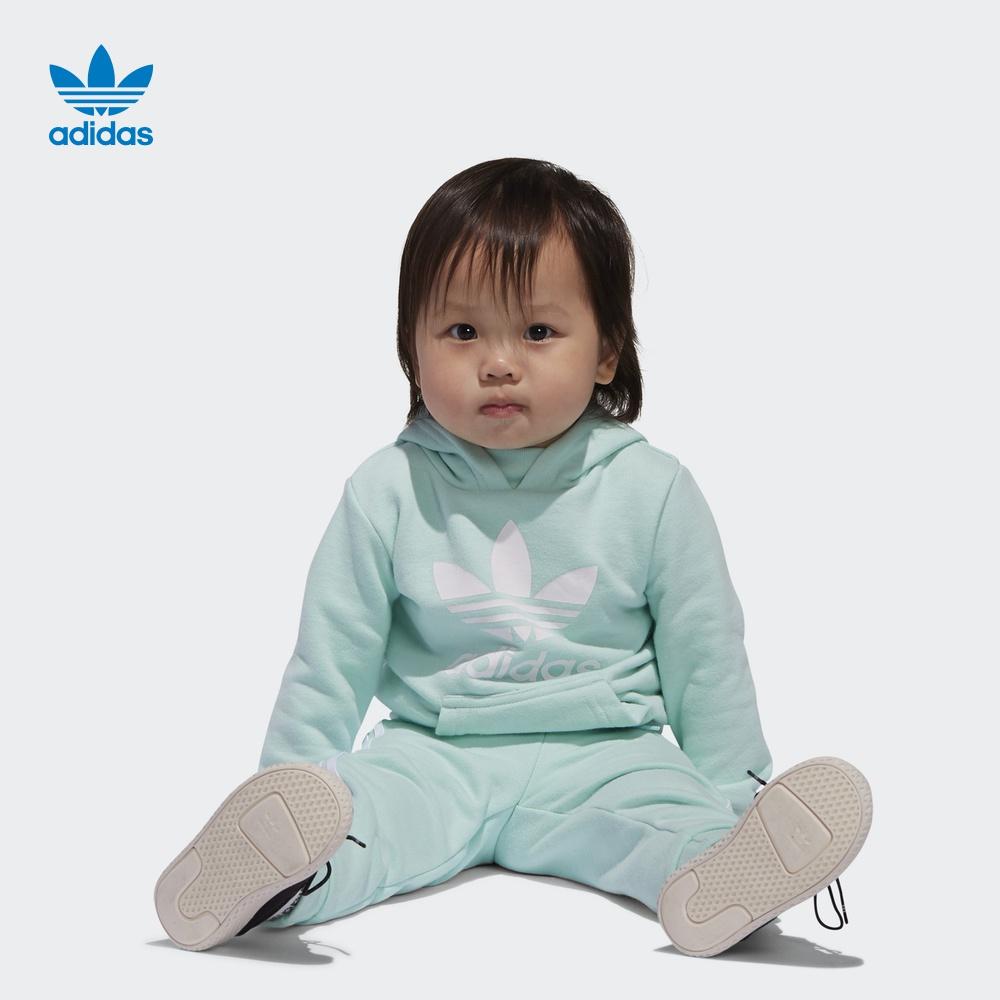 阿迪达斯官方adidas 三叶草 I TRF HOODIE 女婴童 运动套装