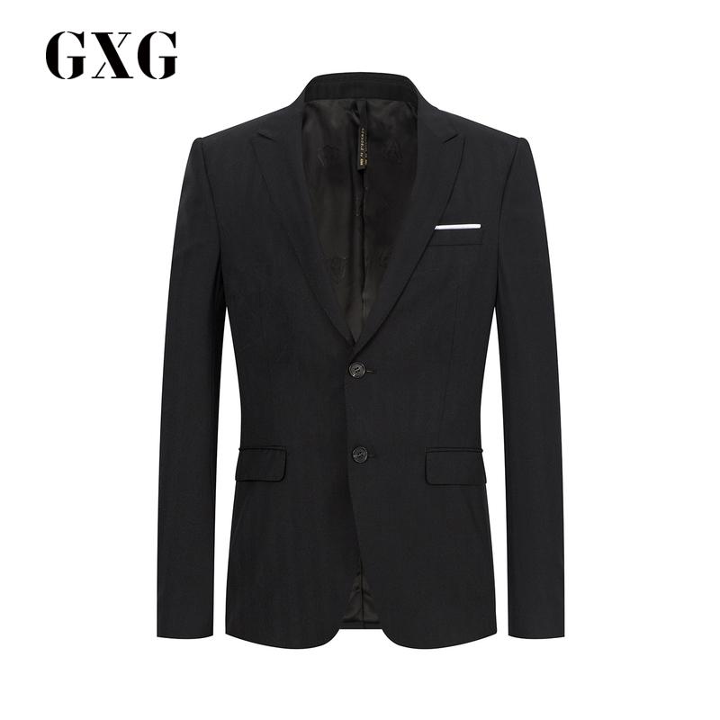 GXG男装 2018秋季热卖休闲韩版黑色套西西装#173113153