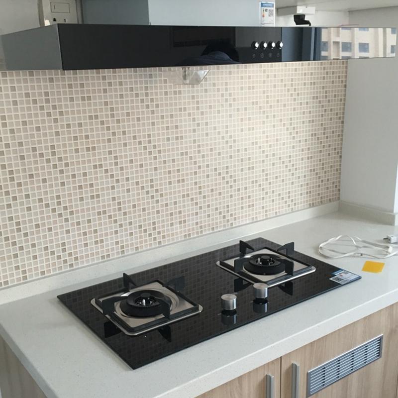 厨房灶台防油烟贴纸墙面翻新浴室防水墙纸自粘卫生间瓷砖墙贴家用