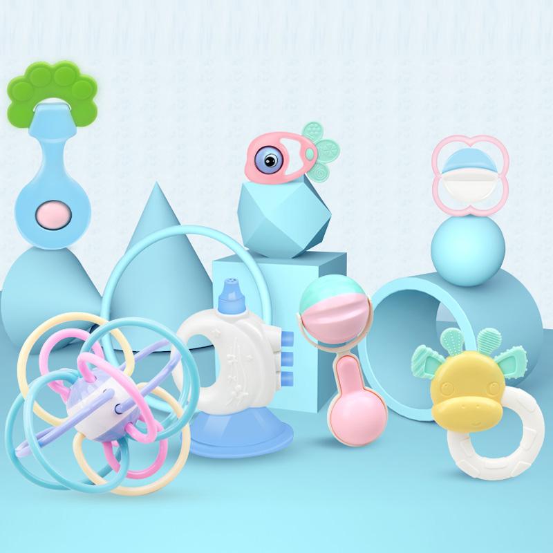 婴儿摇铃玩具3-6-12个月新生儿手摇铃早教儿童益智男女宝宝0-1岁
