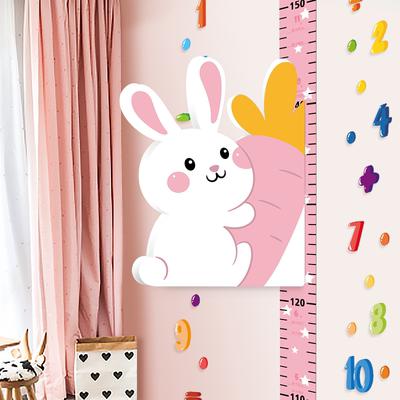 宝宝身高贴3d立体儿童房卡通量身高贴纸测量仪尺墙贴神器可移除