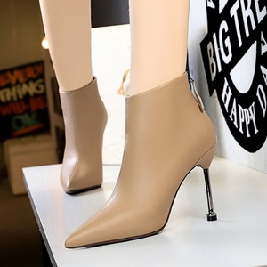663-7 European and American fashion contracted wind fine with high heels pointed to restore ancient ways short canister
