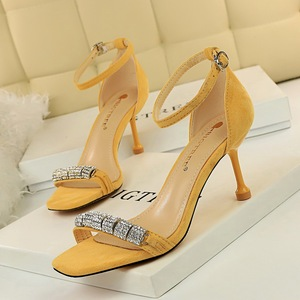 969-2 han edition fashion summer party for women's shoes a stiletto heel suede diamond word sexy sandals, high heel