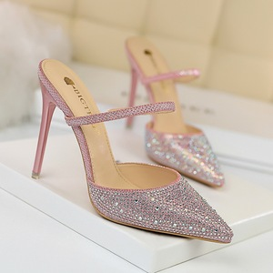 86-20 han edition high-heeled shoes with light colored diamonds for women's shoes is fine pointed mouth with rhines