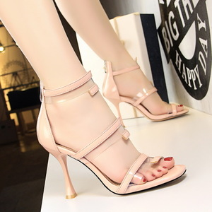 127-6 Han edition fashion glasses with high with hollow out transparent word dewy toe sexy shoes sandals, high heels