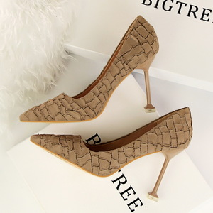 1716-3 European and American wind restoring ancient ways for women's shoes high heel with suede stone grain sexy nightcl