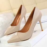 1785-3 han edition fashion show thin contracted professional OL shoes high heel with shallow mouth pointed single shoes High heels