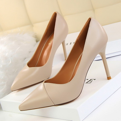1785-3 han edition fashion show thin contracted professional OL shoes high heel with shallow mouth pointed single shoes