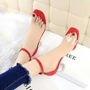 169-3 han edition fashion crystal with a pedicure and delicate with peep-toe shoes thick with high transparent one word