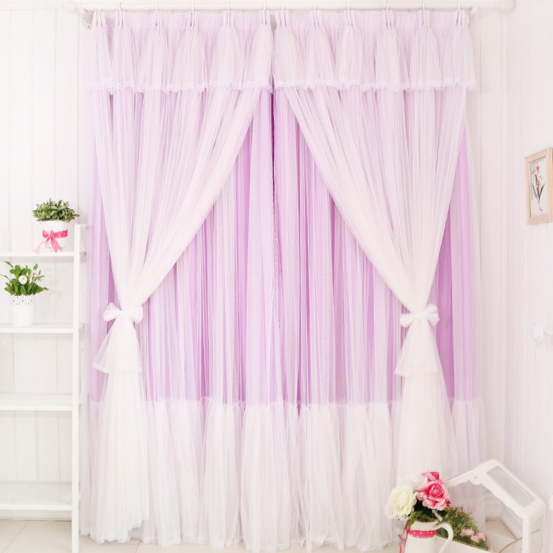 Flower wooden princess dream lace curtains bedroom living room ...