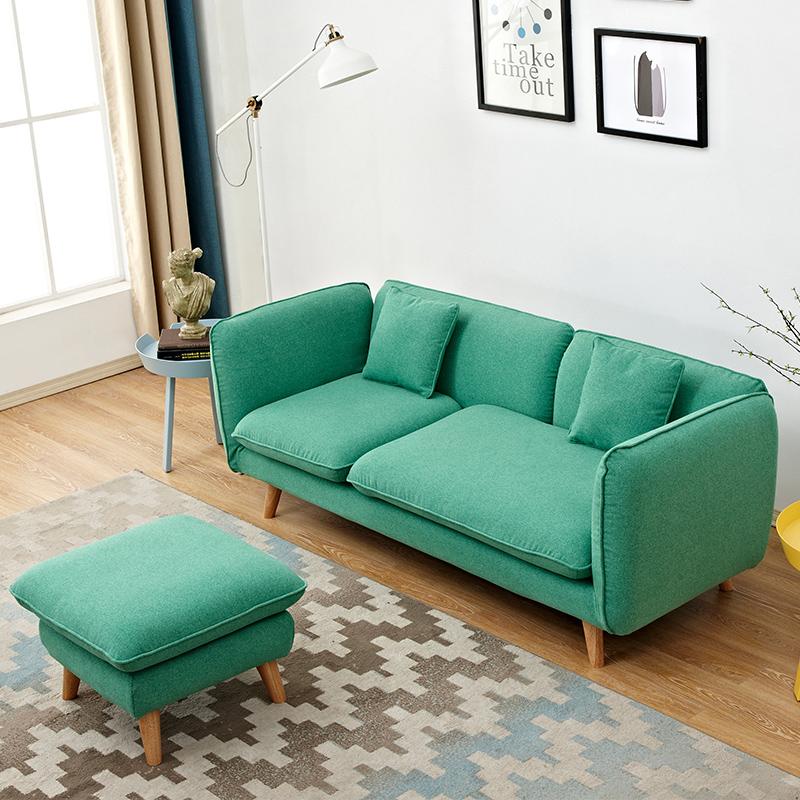 小户型客厅单双人三人沙发北欧布艺小沙发组合卧室书房懒人沙发