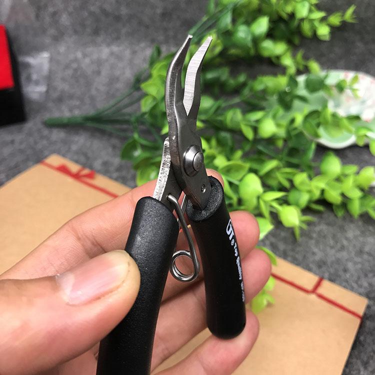 Клещи для электрокабеля Импорт Тайваня из плоского крюка рот плоскогубцы DIY ручной инструмент плоскогубцы бисером крючком mp103