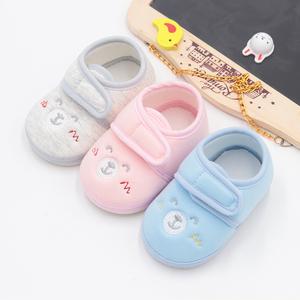 婴儿鞋春秋6-12个月软底防滑单鞋男女宝宝学步鞋子0-1岁不掉布鞋