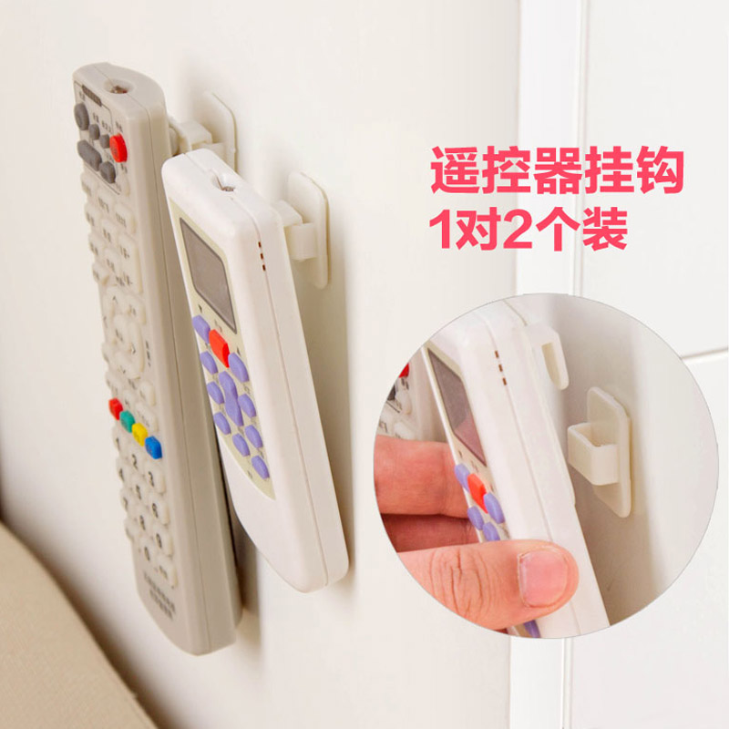 Paste hook remote control storage wall hook creative nail-free seamless strong wall hook