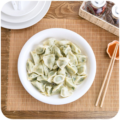 Double Dumpling Dish Drain Tray Creative Cutlery Home Plastic Dishes Dishes Round Dumplings Dishes